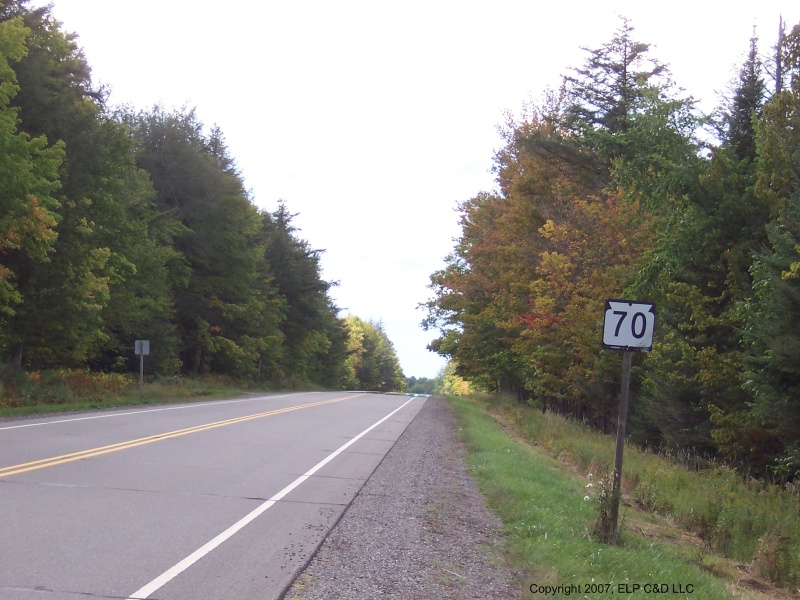 Highway 70 in the North Woods, west of Florence