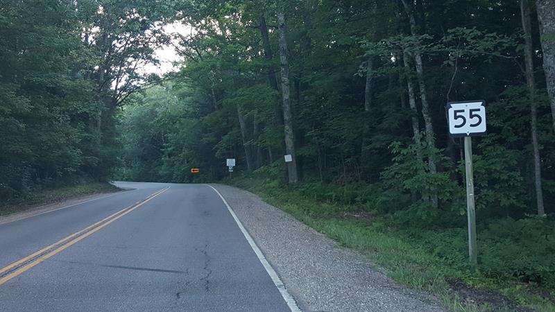 Highway 55 in Menomonee County
