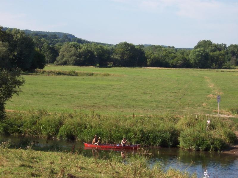 Canoeing the Kickapoo along Highway 131