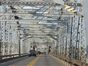 The Michigan Avenue Bridge across Sturgeon Bay.
