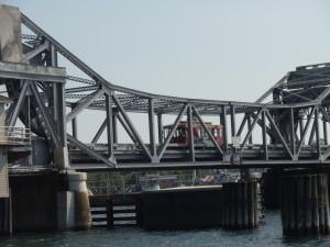 A trolley service can run you around Sturgeon Bay, using the original Michigan Street Bridge.