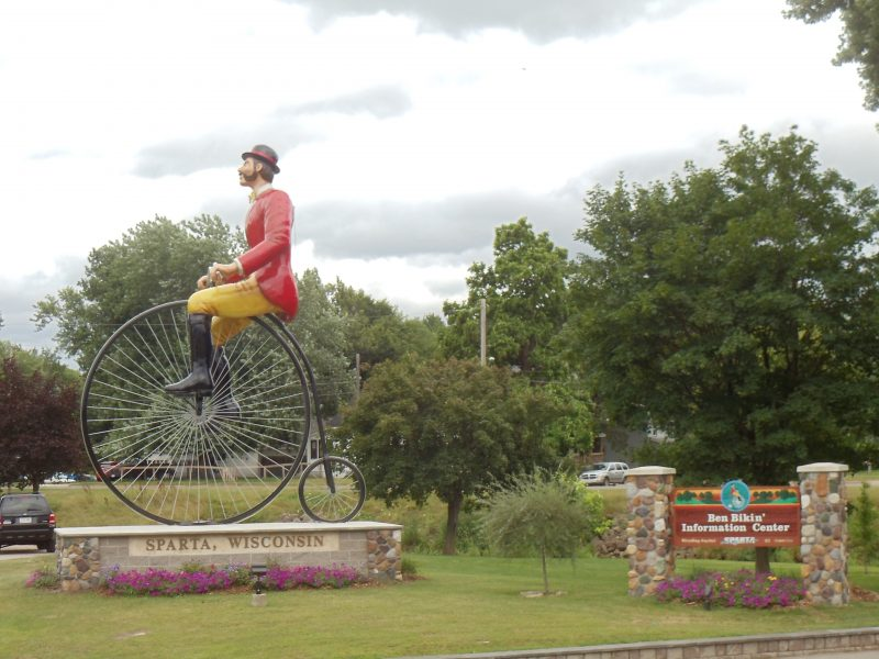 Ben Bikin, the World's Largest Bicyclist