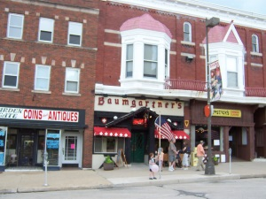 Baumgartners in Monroe on the town square