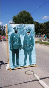 Sputnik Fest, recreation of where cops stood