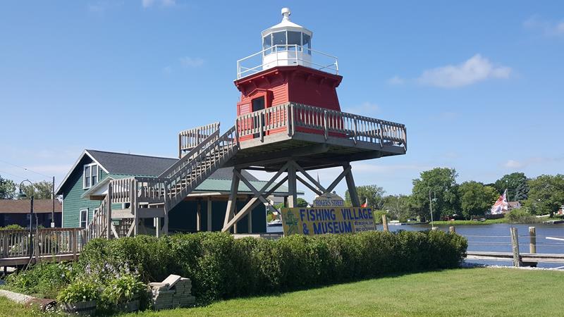 Historic Rogers Street Fishing Village Lighthouse