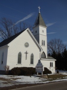 London Moravian Church in London, Wisconsin.