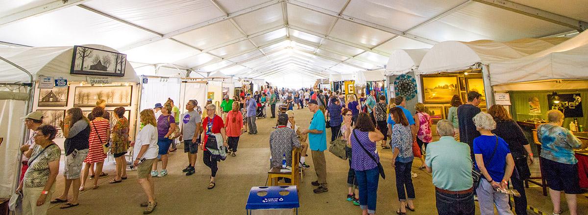 Milwaukee Lakefront Festival of Art Tent