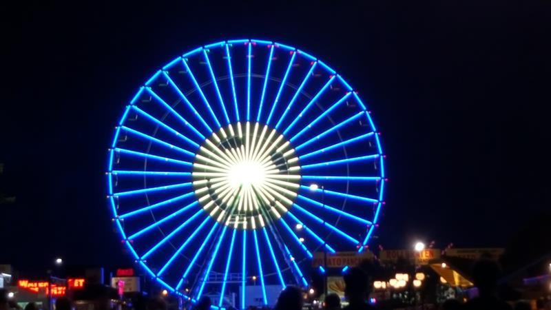 Wisconsin State Fair: Wheel at Night