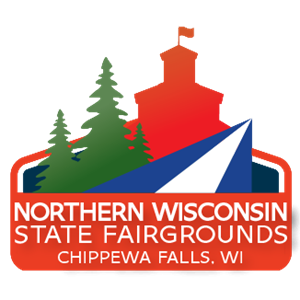 Chippewa Falls Sesquicentennial Northern Wisconsin State Fair grounds logo
