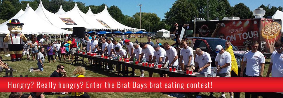 Brat Days eating contest