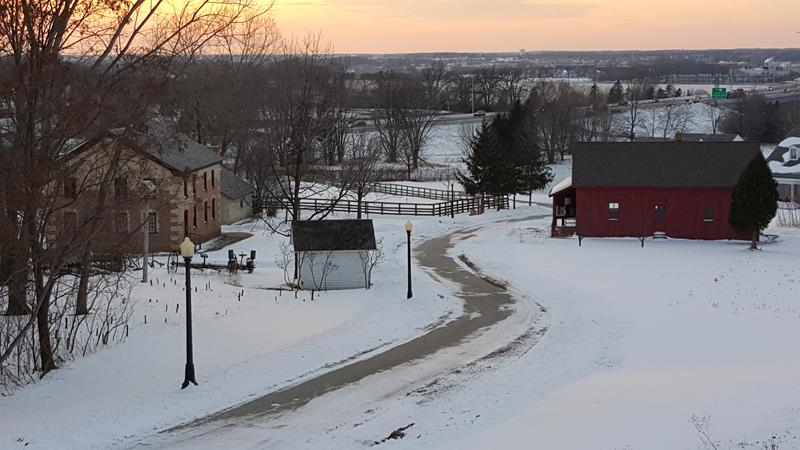 Heritage Hill State Park in winter