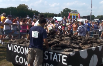 Wisconsin Weekend: Wisconsin State Cow Chip Throw, Prairie du Sac