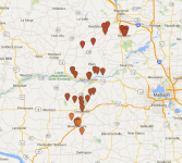Fall Art Tour map