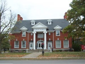 Once a Carnegie Library, this building is now the Langlade County Historic Museum along US 45 and Highways 47 and 52 in Antigo.