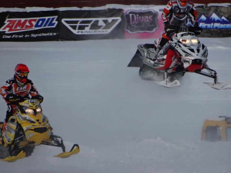 Snowmobile Derby in Eagle River