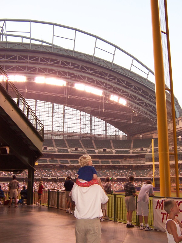 Miller Park, father and son