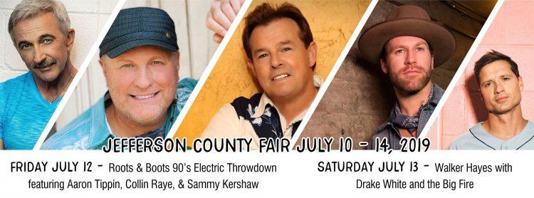 Jefferson County Fair music lineup, 2019
