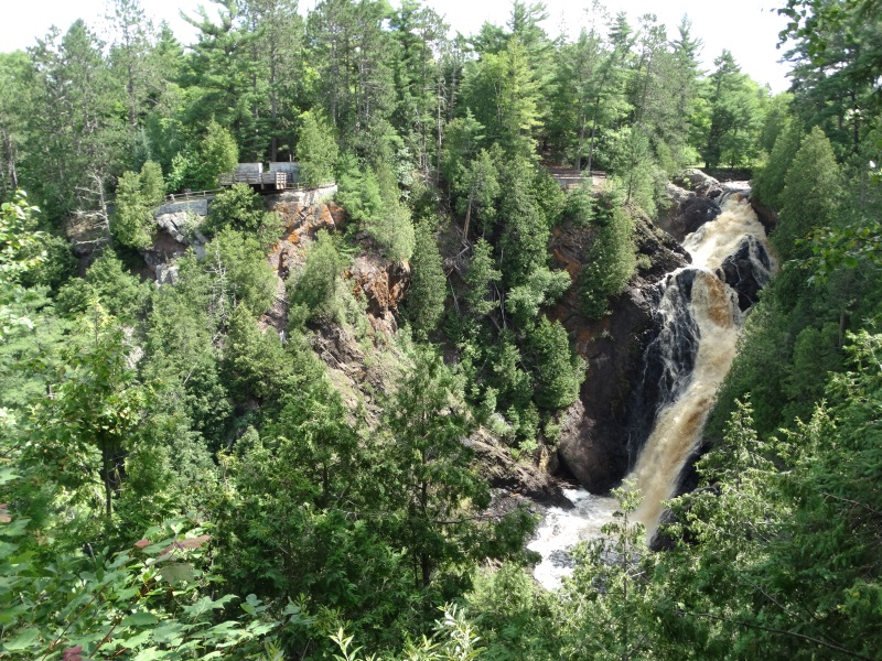 Big Manitou Falls off Highway 35 near Superior
