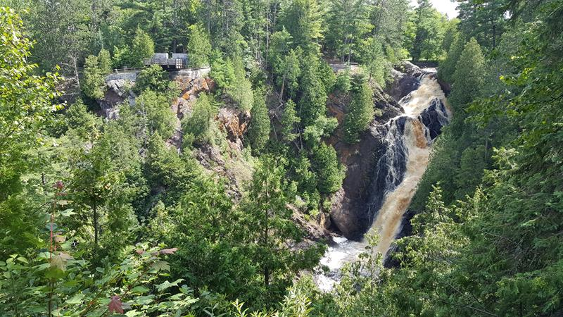 Big Manitou Falls, Wisconsin's highest waterfall
