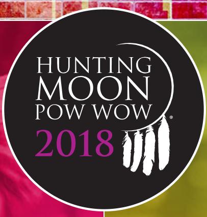 Hunting Moon Pow-Wow Logo, 2018