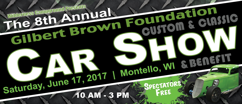 Gilbert Brown Foundation Classic Car Show 2017 Logo