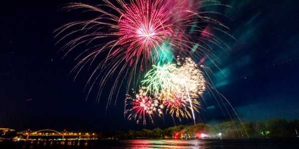 La Crosse Riverfest fireworks