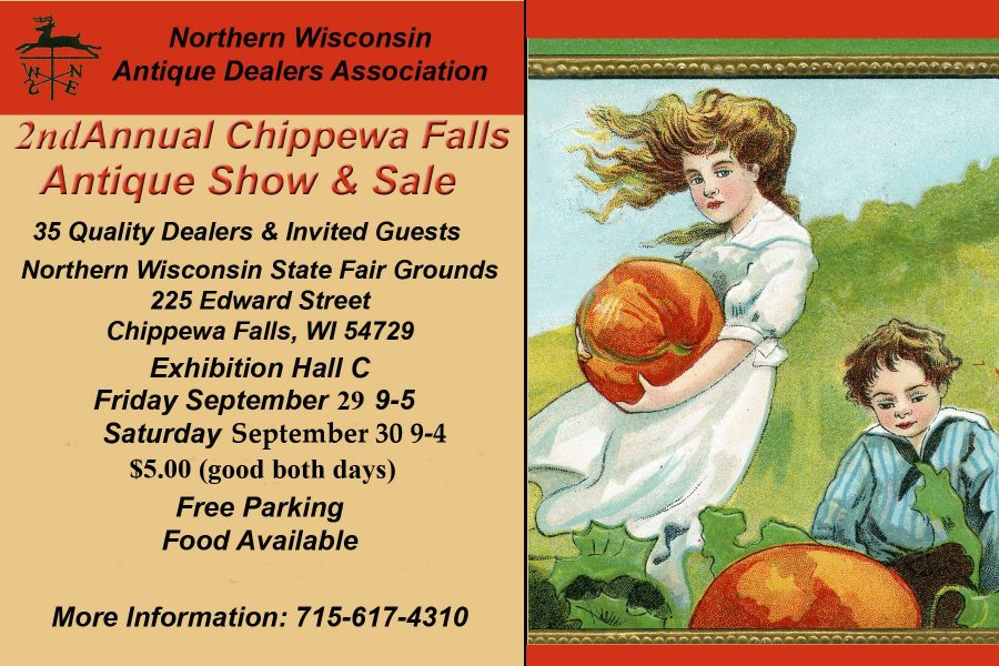 Chippewa Falls Antique Show Sale poster