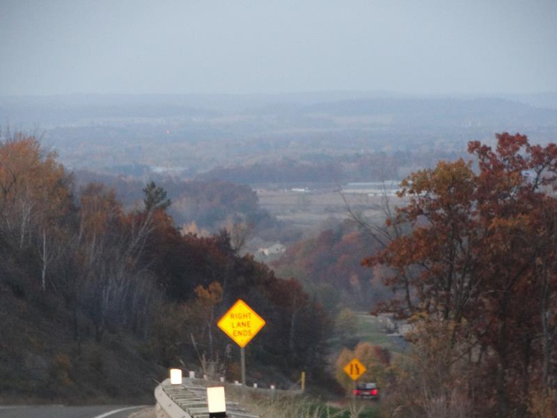 Highway 131 looking towards Tomah