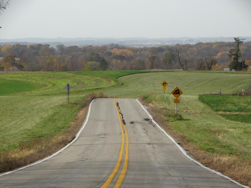 Highway 131 on a vista south of Steuben
