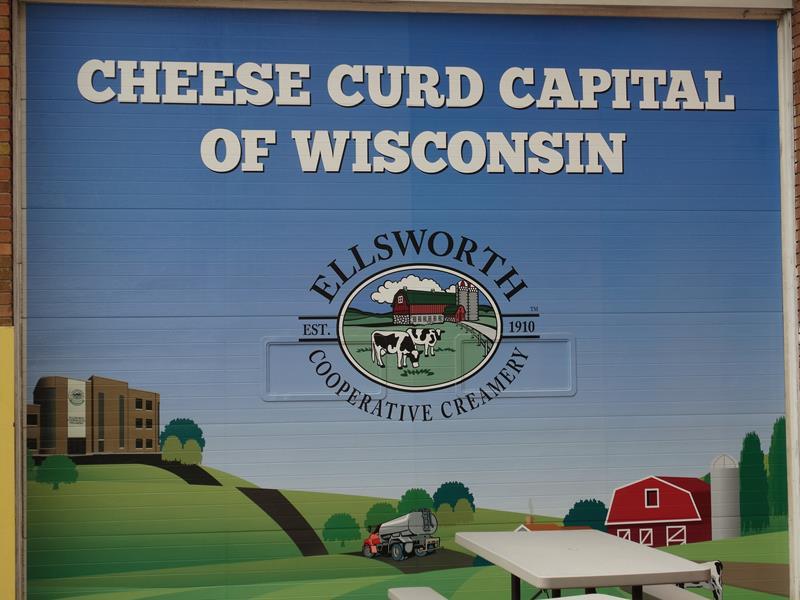 Ellsworth Cooperative Creamery capital sign