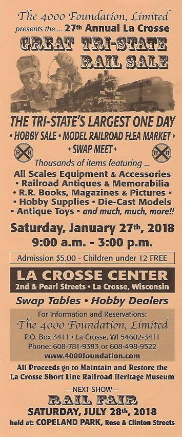 Tri-State Rail Sale, La Crosse