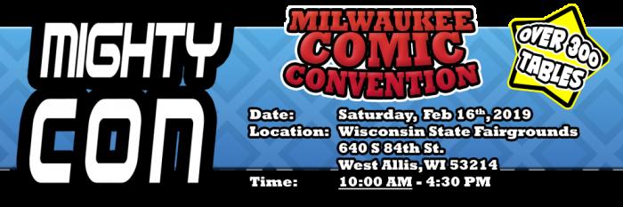 Milwaukee Comic Con 2019 banner