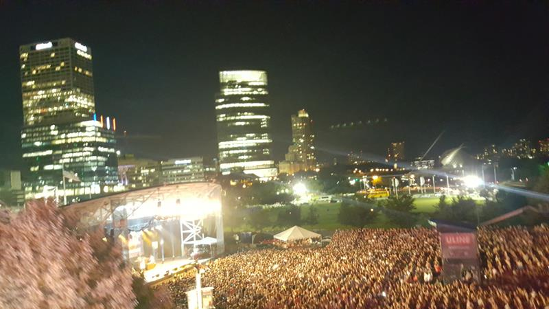 Summerfest 2018 Uline Stage and downtown