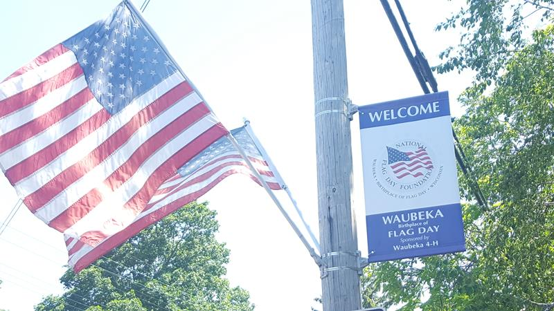 Flag Day founding in Waubeka