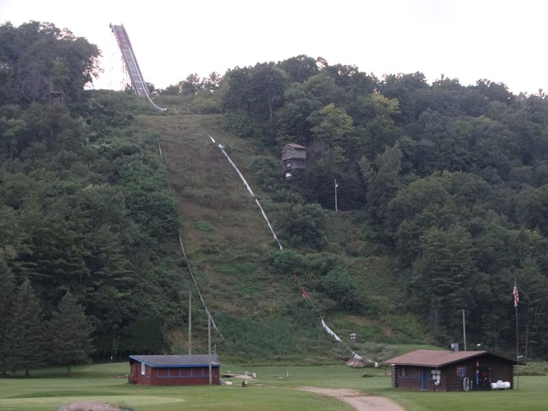 Snowflake Ski Jump in summer