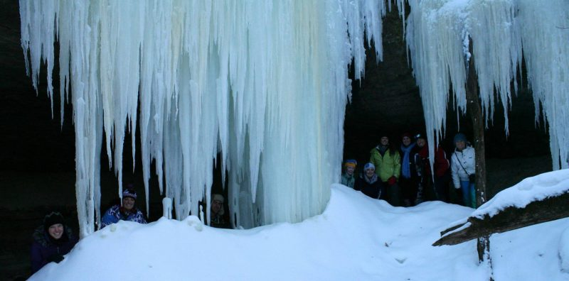 Ice Caves Exploration at Kickapoo Valley Reserve