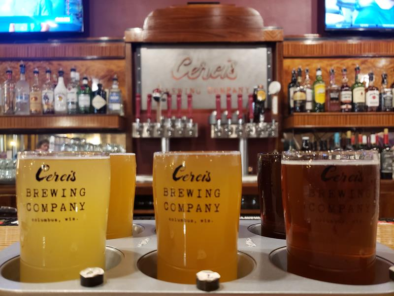 Cercis Brewing Company flight