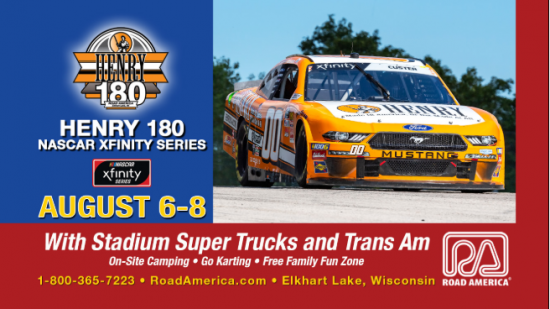 Henry 180 NASCAR XFinity Series at Road America