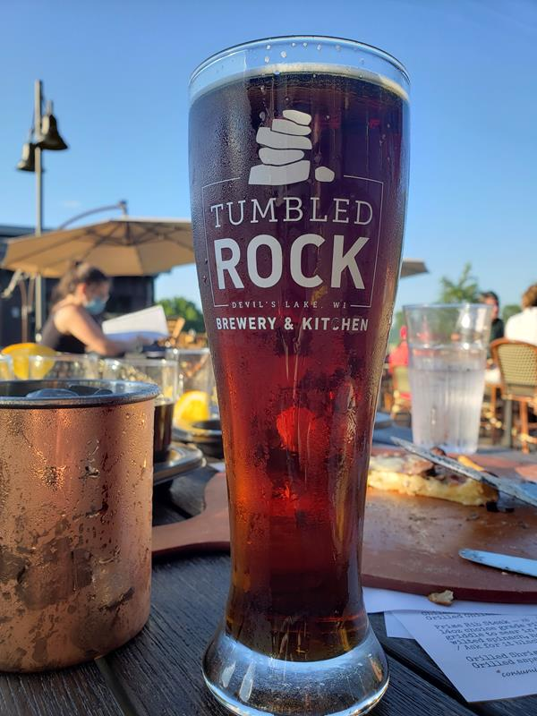 Tumbled Rock Brewery & Kitchen, along Highway 136 just south of Baraboo near Devil's Lake State Park