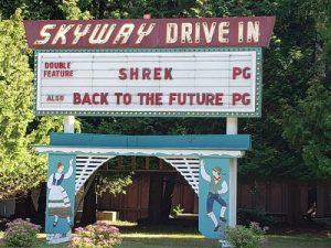 Skyway Drive-In, along Highway 42 in Door County