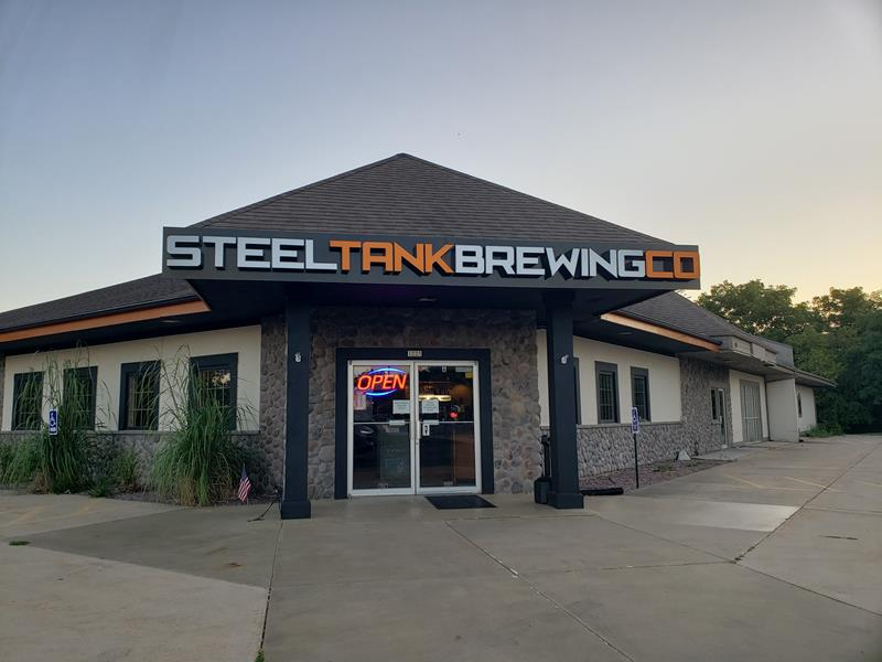 SteelTank Brewing Company, along Highway 67 in Oconomowoc, Wisconsin