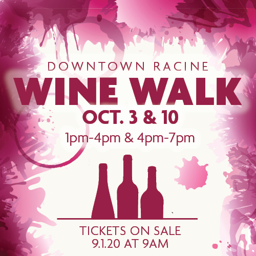 Downtown Racine Fall Wine Walk, 2020
