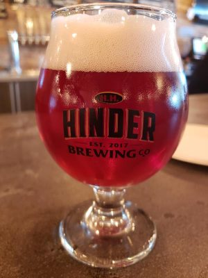 10-oz pour at Hinder Brewing Company, Waupaca, Wisconsin