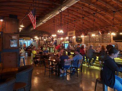 Tap Room at Hinder Brewing Company, Waupaca, Wisconsin