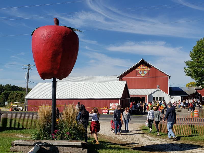 Apple Barn Farm Orchard & Winery, west of Elkhorn, Wisconsin