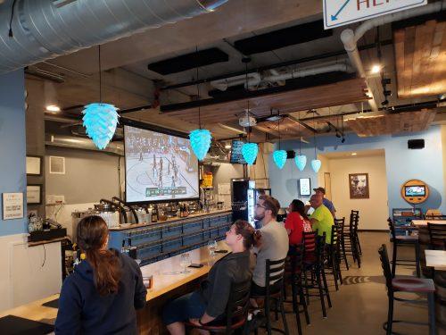 Tap Room inside Sahale Ale Works, Grafton, Wisconsin