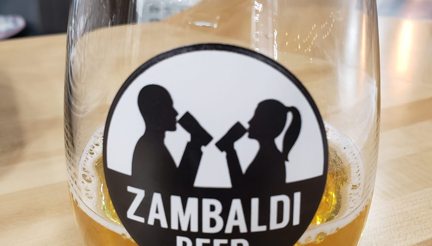 Beer sample at Zambaldi Beer, Green Bay, Wisconsin