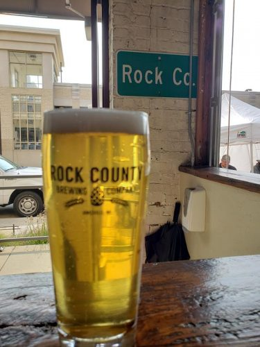 Pint of Rock the Pils at Rock County Brewing Company, Janesville, Wisconsin