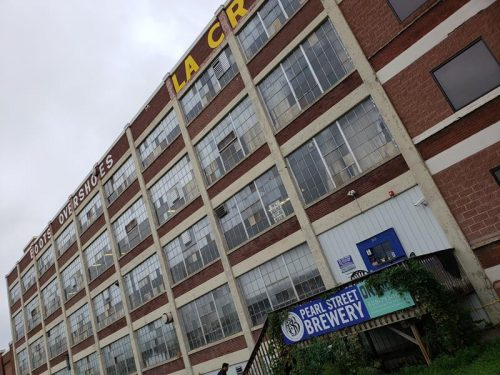 Pearl Street Brewery in a former factory that made boots. La Crosse, Wisconsin