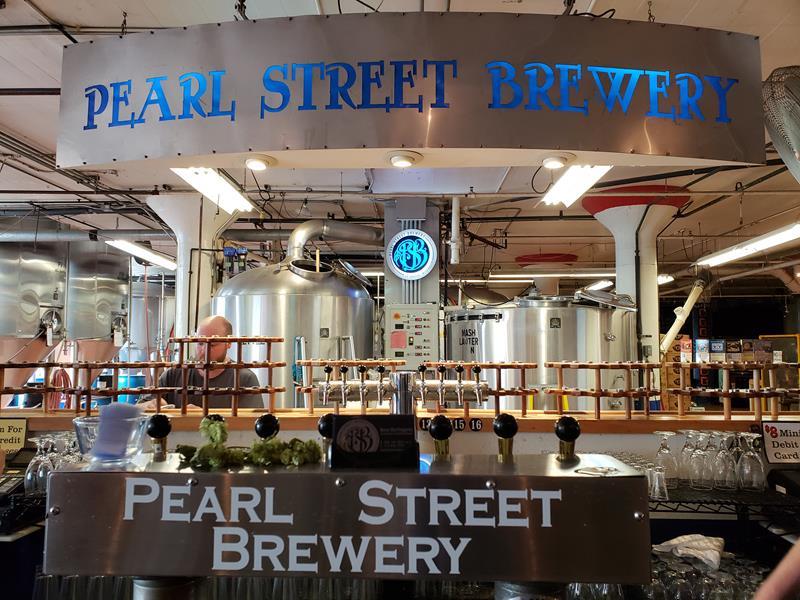 Pearl Street Brewery, just off Highway 35 in La Crosse, Wisconsin